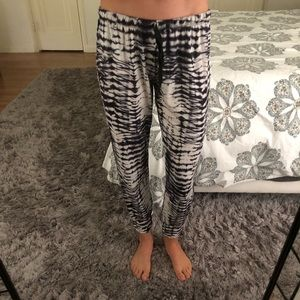 Onzie black and white jogger pants.